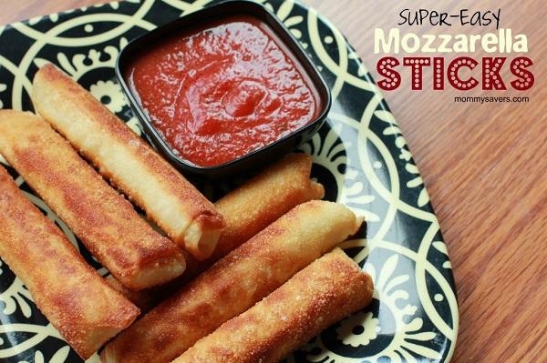9 Easy Mozzarella Sticks